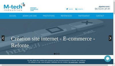 Site internet de M-Tech Industries