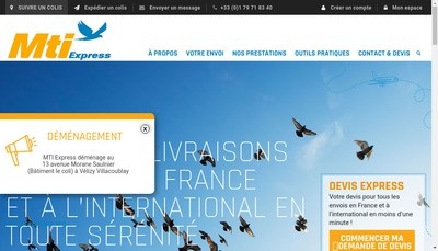 Site internet de Mail et Transport International(Mti)