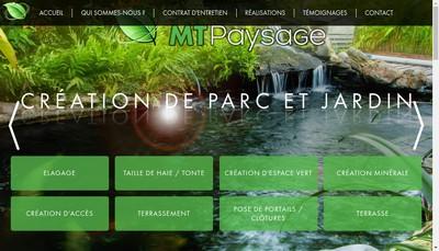 Site internet de MT Paysage