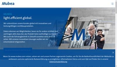 Site internet de Mubea France SA