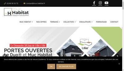 Site internet de Muc Habitat