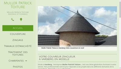 Site internet de Muller Patrick Toiture