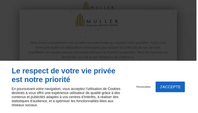 Site internet de Muller &Associes Gestion Privee