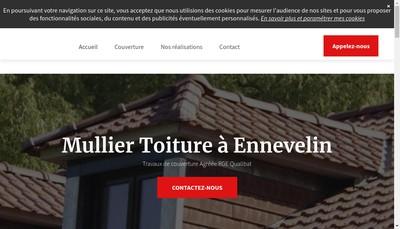 Site internet de Mullier Toiture