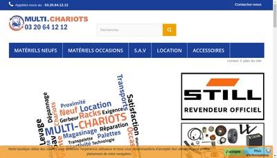 Site internet de Jpv Manutention
