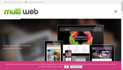 Site internet de Multi Web 48