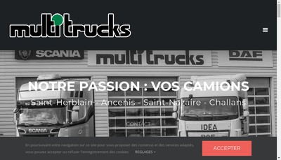 Site internet de Multi Trucks