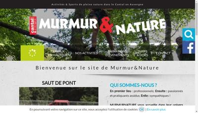 Site internet de Murmur & Nature