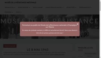 Site internet de Musee de la Resistance Nationale