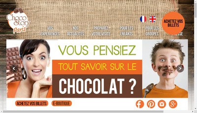 Site internet de Le Musee Gourmand du Chocolat - Choco Story SARL