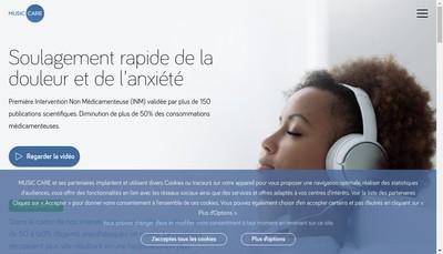 Site internet de Music Care