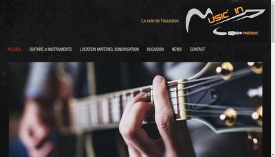 Site internet de Music In Medoc - Instruments de Musique