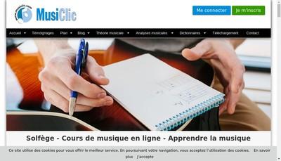Site internet de Musiclic