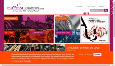 Site internet de Musicora SARL
