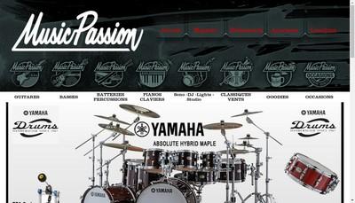 Site internet de Music Passion