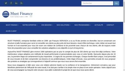 Site internet de Must Finance