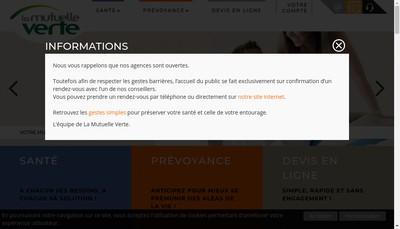Site internet de La Mutuelle Verte