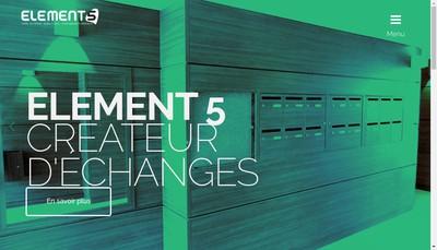 Site internet de Element 5