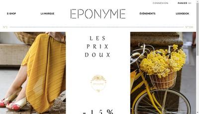 Site internet de Eponyme