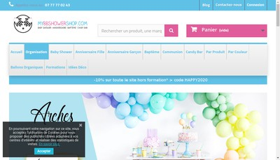 Site internet de Mybbshowershop Com France