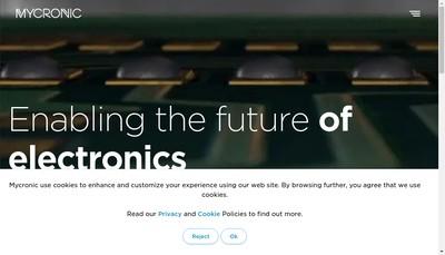 Site internet de Mycronic