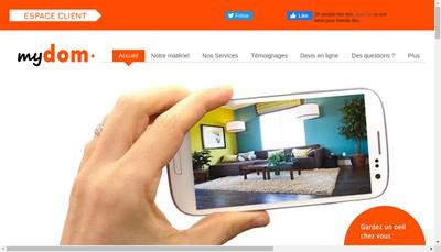 Site internet de Mydom, Ivisio, la Videoprotection Interactive