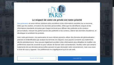 Site internet de My Flat In Paris