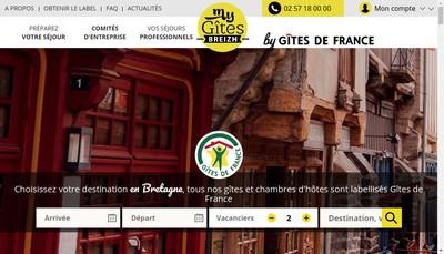 Site internet de SAS Gites de France en Bretagne