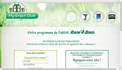 Site internet de Rain Bird Europe