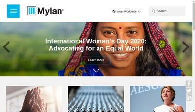 Site internet de Mylan Laboratories SAS
