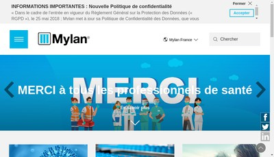 Site internet de Mylan