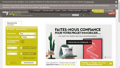 Site internet de Mychezmoi Marseille