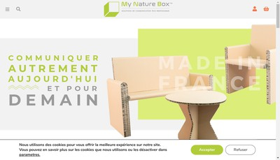 Site internet de My Nature Box