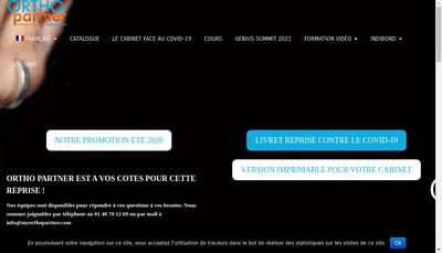 Site internet de Ortho Partner