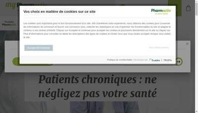 Site internet de Pharmacie Centrale SARL
