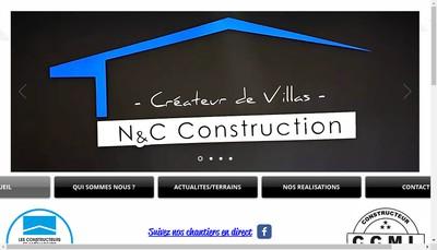 Site internet de N et C Construction
