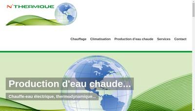 Site internet de N Thermique