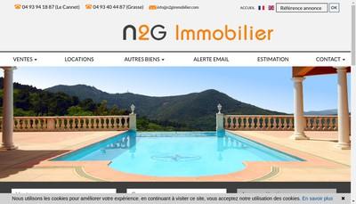 Site internet de N2G Immobilier