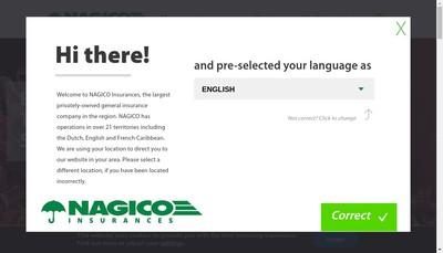 Site internet de Nagico Insurance Company Limited