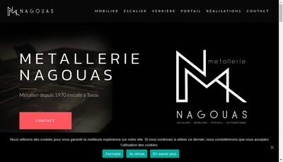 Site internet de Metallerie Nagouas