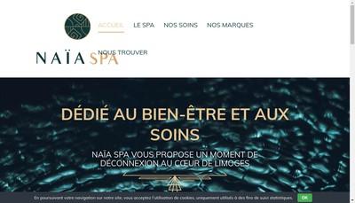 Site internet de Naia Spa