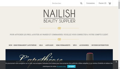 Site internet de Nailish