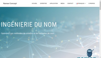 Site internet de Namae Concept