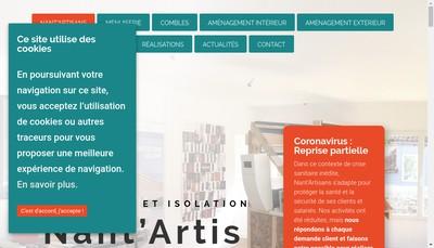 Site internet de Nant'Artisans