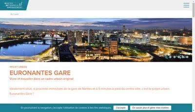 Site internet de Nantes Metropole Amenagement