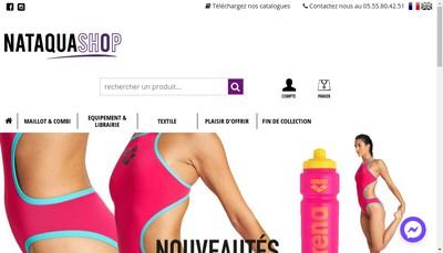 Site internet de Nataquashop