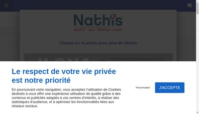 Site internet de SARL Nathis