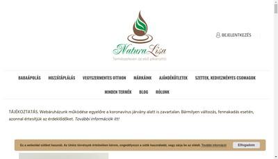 Site internet de Natura'Lisa