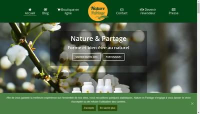 Site internet de Nature et Partage