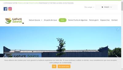 Site internet de Nature Source
